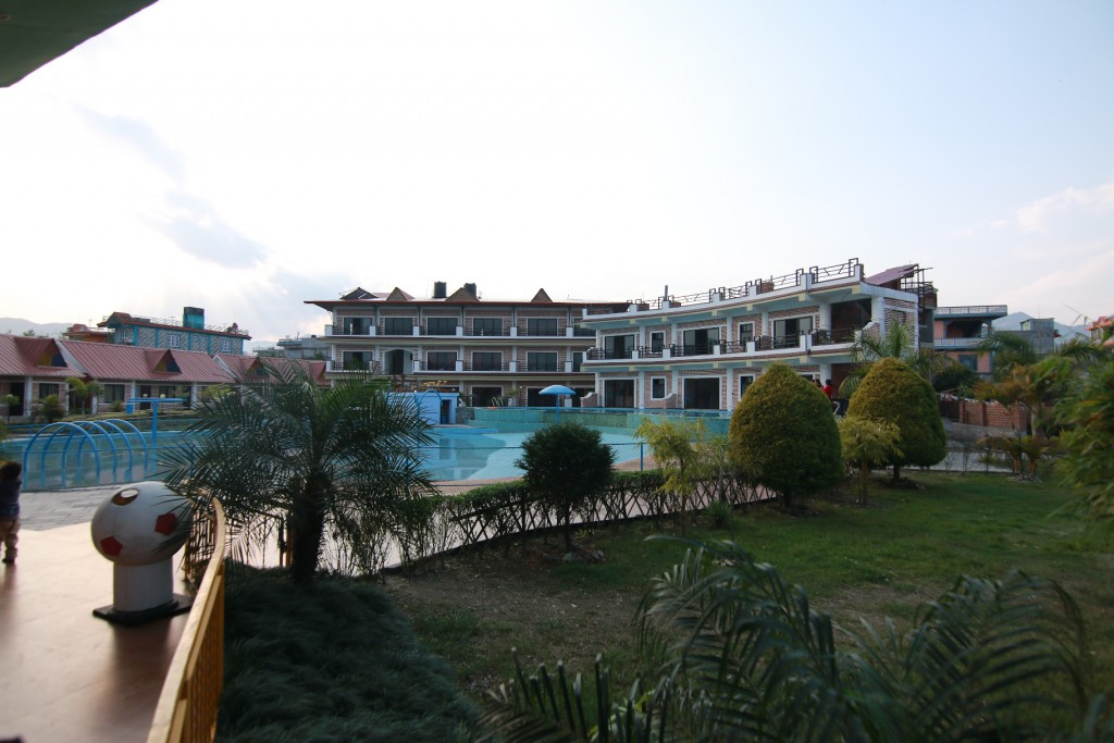 Garden, Pools and Buildings